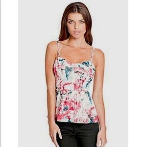 GUESS | Floral Bustier Chiffon Top